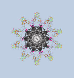 Different snowflake collection winter elements vector