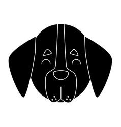 dog head cartoon vector image