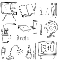 Doodle of school object hand draw vector
