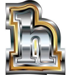 Fancy font Letter h vector image vector image