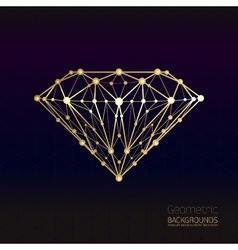 Geometrical shape of the gold diamond lattice of vector