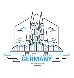 Germany - modern line travel vector