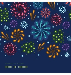 Holiday fireworks horizontal seamless pattern vector image vector image
