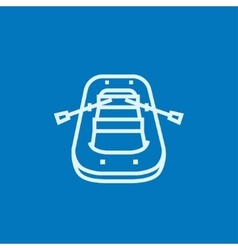 Inflatable boat line icon vector image vector image