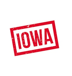 Iowa rubber stamp vector