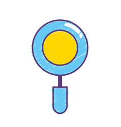 magnifying glass instrument to exploration search vector image vector image