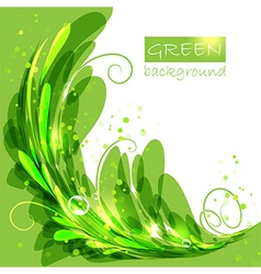 Oval frame with green leaves vector image vector image
