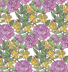 patternflowers vector image vector image