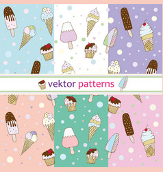 patterns ice cream vector image vector image