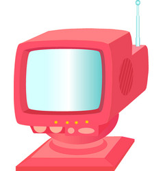 Red tv vector