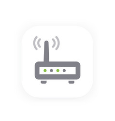 Router icon wifi modem vector