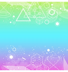 Sacred geometry symbols and elements background vector