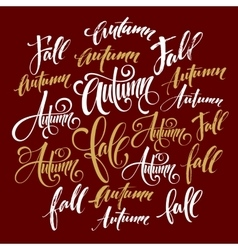 Season style lettering Calligraphy graphic design vector image vector image