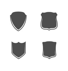 Shields banner templates set vector