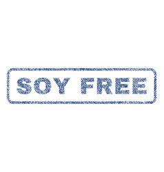 Soy free textile stamp vector