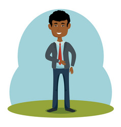stylish man icon vector image