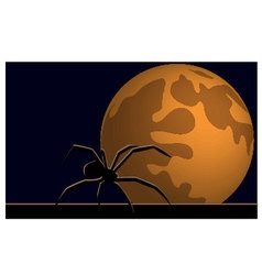 Wallpaper halloween moon spider vector