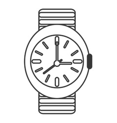 Analog wristwatch icon vector