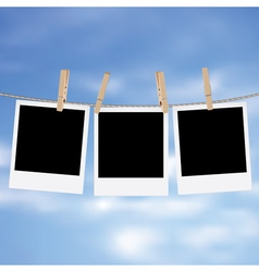 Photo Frames on Rope5 vector image