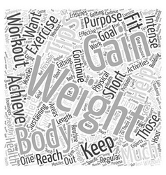 Weight gain tips word cloud concept vector
