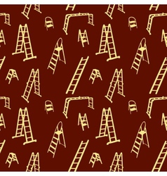 Seamless pattern of ladder silhouette vector