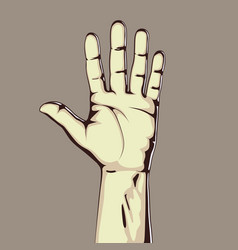 hand showing five count vector image