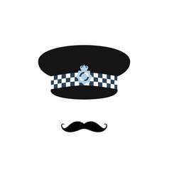 london police officer on white background avatar vector image