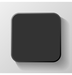 Black blank icon template for web and mobile vector
