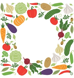 Vegetables  place for your text vector
