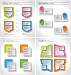 Set of 4 in 1 business infographics elements vector