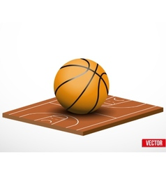 Symbol of a basketball game and field vector