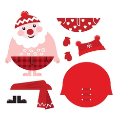 Santa costume vector