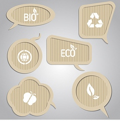 Cardboard speech bubbles vector