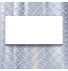 Banner on metal texture background vector