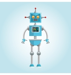 Robot design technology concept humanoid icon vector