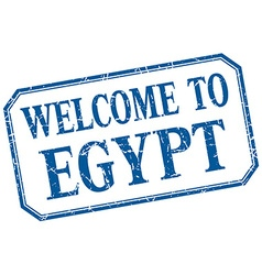 Egypt - welcome blue vintage isolated label vector