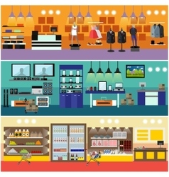 Shopping in a mall concept banner Consumer vector image