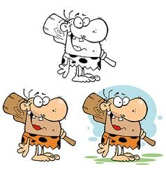 Cartoon caveman vector image vector image