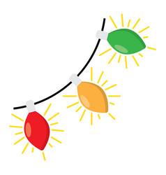 christmas light bulbs on white vector image vector image