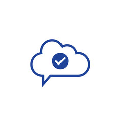 cloud check icon computing concept vector image vector image