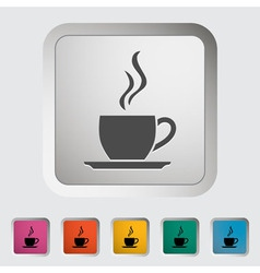 Cup of tea 2 vector image vector image