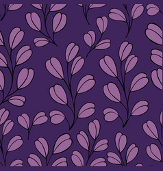 Decorative seamless pattern with branches on a vector