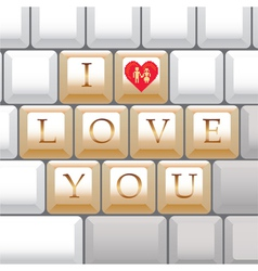 I love you keys vector