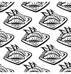 Japan food seamless pattern vector image vector image