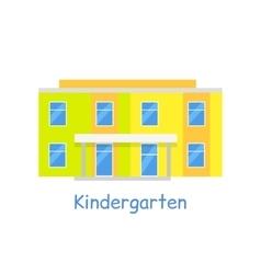 Kindergarten Building Isolated on White vector image