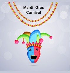 mardi gras carnival background vector image
