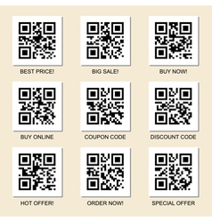 Marketing qr codes set vector