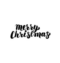 Merry Christmas Handwritten Calligraphy vector image vector image