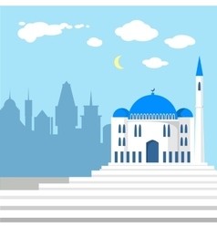 Mosque on the background of islamic city vector image vector image