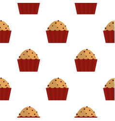 muffin with raisins pattern seamless vector image
